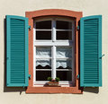 Renovated pvc windows in old village house france Royalty Free Stock Photography