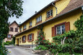 Renovated village house in small alsace country place Royalty Free Stock Photo