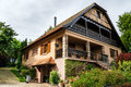 Renovated village house in small alsace country place Royalty Free Stock Images