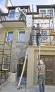 Renovating house facade