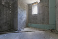 Renovation house empty old interior with bare walls under Royalty Free Stock Photography