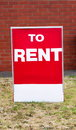 Rent billboard red on the street Royalty Free Stock Images