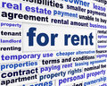 For rent business words concept housing market creative message Royalty Free Stock Image