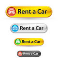 Rent car sign icon button tag label Stock Photo