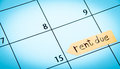 Rent due calendar Royalty Free Stock Photo