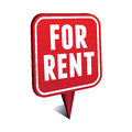 For rent pointer red vector Stock Photo