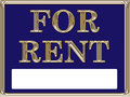 For Rent Real Estate Sign Gold Royalty Free Stock Photo