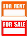 For rent / for sale Royalty Free Stock Photo
