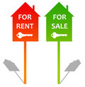 Rent or sale Stock Photo