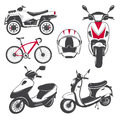 Rent, sale and repair - bicycles, mopeds and scooters. Bicycling Club. Detailed elements. Old retro vintage grunge