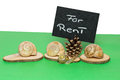 For rent a snail considering a sign saying Stock Images