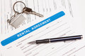 Rental agreement form Royalty Free Stock Image