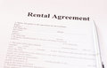 Rental agreement form with pen Royalty Free Stock Photo