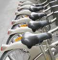 Rental bicycles Paris France Royalty Free Stock Photo