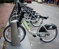 Rental Bikes in Boston Stock Photography