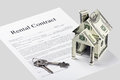 Rental contract agreement form Royalty Free Stock Photos