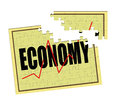 Repair broken economy puzzle concept upward trend out of recession Royalty Free Stock Photography
