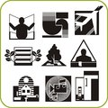 Repair and construction set of vector icons vinyl ready Royalty Free Stock Photos