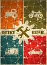 Repair fix tool icons. auto vehicle customer support service