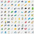 100 repair icons set, isometric 3d style