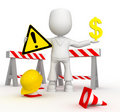 Repair of the money road) Royalty Free Stock Photos