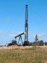 Repair oil pump close up Royalty Free Stock Photo