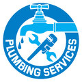 Repair plumbing symbol and design for business label icon and Royalty Free Stock Photos