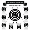 Repair service infographic concept, simple style