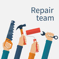 Repair team concept. Royalty Free Stock Photo