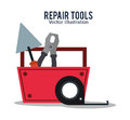 Repair tools construction design Royalty Free Stock Photo