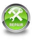 Repair (tools icon) glossy green round button