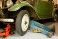 Repair of a vintage car Stock Images