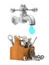 Repair water tap. Isolated 3D