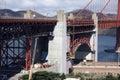 Repair Work at Golden Gate Bridge Stock Image