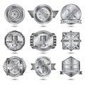 Repair Workshop Metal Emblems Set