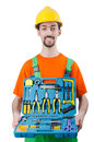 Repairman in coveralls - industrial concept Stock Photography