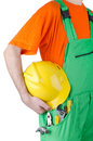 Repairman in coveralls - industrial concept Stock Photo