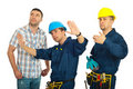 Repairman explain to client Royalty Free Stock Photography
