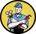 Repairman plumber technican Stock Photos