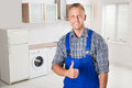 Repairman Showing Thumbs Up Sign Royalty Free Stock Photo