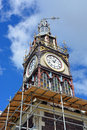 Repairs start on iconic diamond jubilee clock tower in chrsitchu christchurch earthquake rebuild the landmark victoria street Stock Photos