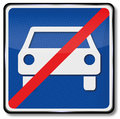 Repeal of carriageway and not only for cars Royalty Free Stock Images