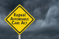 Repealing and replacing the Affordable Care Act healthcare insur Royalty Free Stock Photo