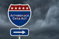 Repealing and replacing Affordable Care Act healthcare insurance Royalty Free Stock Photo