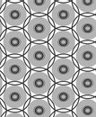 Repeat dot black and grey composition round geometric abstract vector pattern Royalty Free Stock Photo