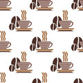 Repeat pattern of a cup of coffee Royalty Free Stock Photos