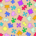 Repeat pattern with puzzles Royalty Free Stock Images