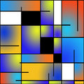 Repeatable Mondrian style painting Stock Images