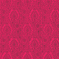 Repeatable Paisley Pattern Hot Pink Background Stock Photos