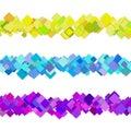 Repeatable square pattern paragraph rule line design set
